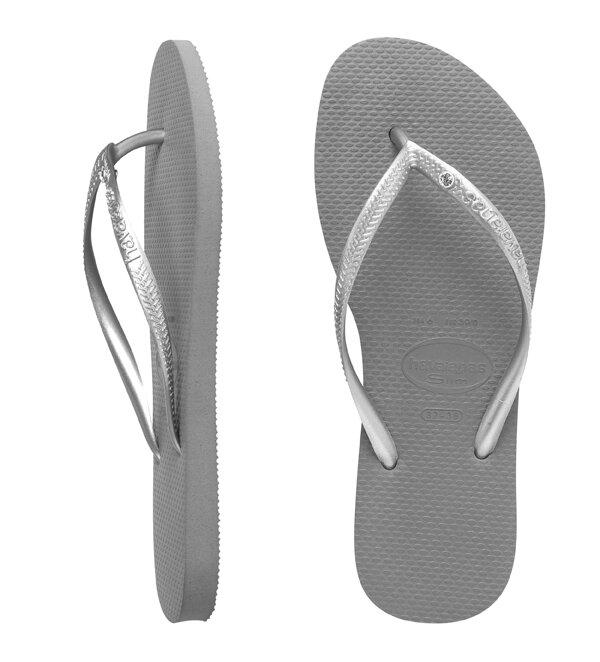 havaianas slim crystal grey